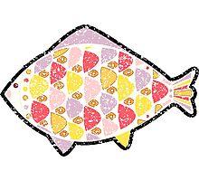 Grunge fish. Photographic Print