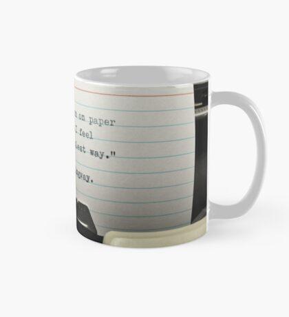 Typewritten Hemingway Quotation.  Mug
