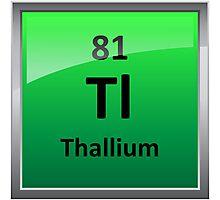 Thallium Periodic Table Element Symbol Photographic Print