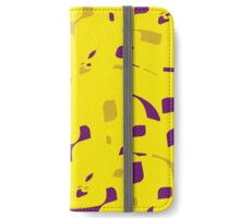 Yellow decorative abstraction iPhone Wallet/Case/Skin
