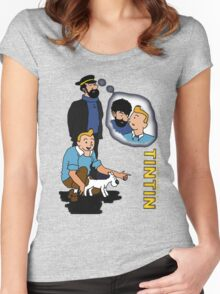 tintin_haddock Women's Fitted Scoop T-Shirt