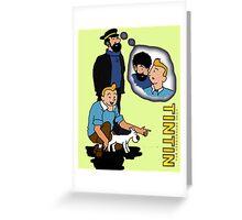 tintin_haddock Greeting Card