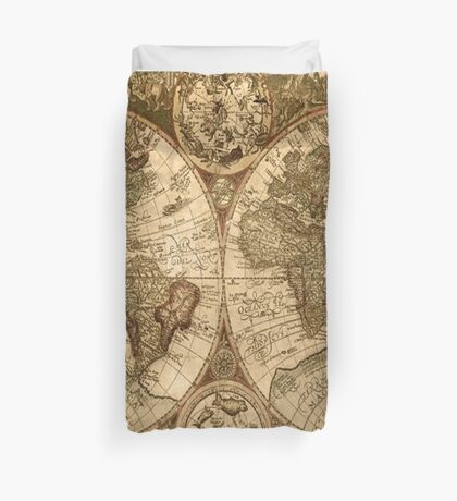 Old world Map Duvet Cover