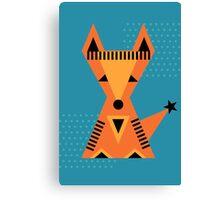 Little Fox, foxy, animal, autumn, forest, wild Canvas Print