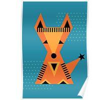Little Fox, foxy, animal, autumn, forest, wild Poster