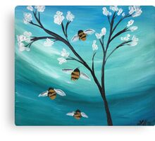 Bee Family Canvas Print
