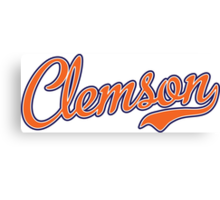 Clemson Script Orange  Canvas Print