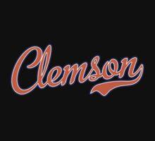 Clemson Script Orange  Kids Clothes
