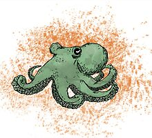 Green Octopus by nadialopes