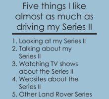 5 Things I Like - Series 2 One Piece - Short Sleeve