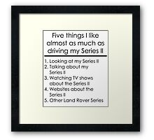 5 Things I Like - Series 2 Framed Print