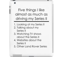 5 Things I Like - Series 2 iPad Case/Skin