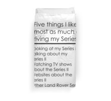 5 Things I Like - Series 2 Duvet Cover
