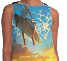 surfing Contrast Tank