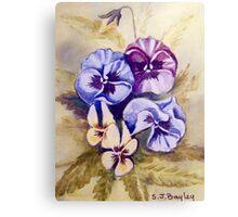 Watercolour Flowers Canvas Print