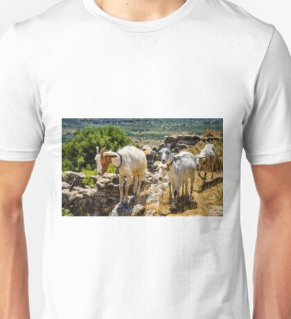 Goats & Sheep browsing Ancient Sulunto Unisex T-Shirt