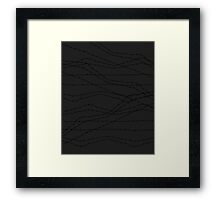 Wire trail Framed Print