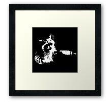 Tough Raccoon Framed Print