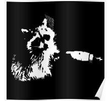 Tough Raccoon Poster