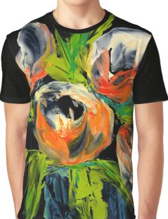 Abstract Tulips Bulbs Graphic T-Shirt