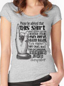 Garage Sale - Junker - Flea Market Shopper - Estate Sale - Dumpster Diver Women's Fitted Scoop T-Shirt