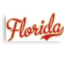 Florida Script Crimson VINTAGE Canvas Print
