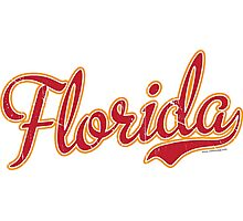 Florida Script Crimson VINTAGE Photographic Print