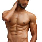 Athletic gay with perfect torso by Bruno Beach