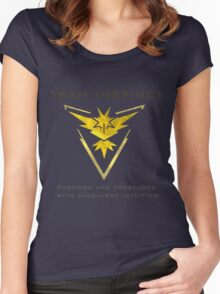 Pokemon Go! Team Instinct Women's Fitted Scoop T-Shirt