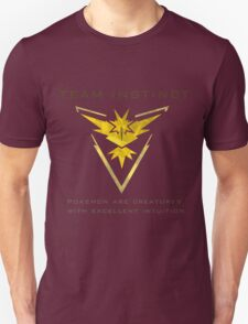Pokemon Go! Team Instinct Unisex T-Shirt
