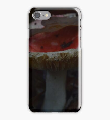 Red Cap Breaking through the Leaf Bed iPhone Case/Skin