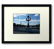 Paris with Eiffel tower and American church. Framed Print