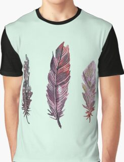 Watercolor feathers (mint green) Graphic T-Shirt