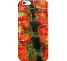Strawberries At The Market iPhone Case/Skin