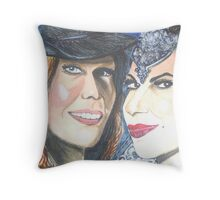 the Mills Sisters Throw Pillow