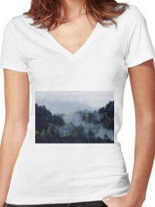 End in fire Women's Fitted V-Neck T-Shirt