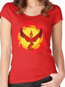 Team Valor and The Fire Within! Women's Fitted Scoop T-Shirt