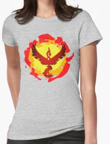 Team Valor and The Fire Within! Womens Fitted T-Shirt