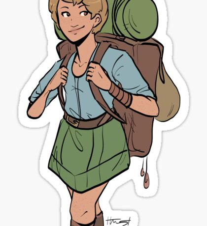 Adventurer Girl Sticker