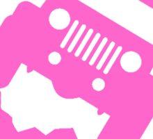 Dont Follow Me You Wont Make It. Pink Sticker
