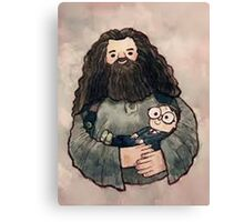 hagrid and harry Canvas Print