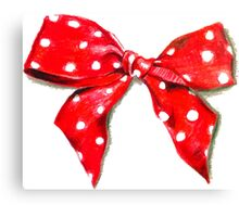 Red bow. Canvas Print
