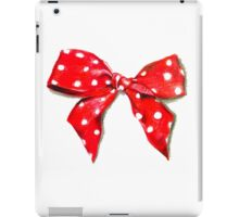 Red bow. iPad Case/Skin