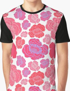 Beautiful pink and red flowers. Graphic T-Shirt
