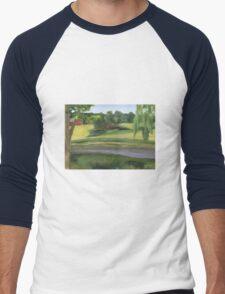 Bennington VT pond Men's Baseball ¾ T-Shirt