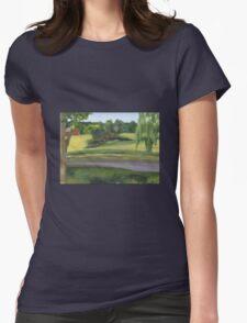 Bennington VT pond Womens Fitted T-Shirt