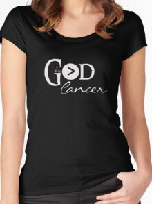 God is Greater Than Cancer - Christian Hope T Shirt Women's Fitted Scoop T-Shirt