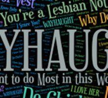Wayhaught Wynonna Earp Sticker