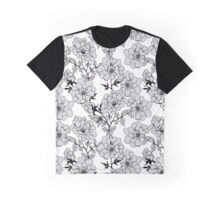 Peonies. Gray elegant peony on white background. Graphic T-Shirt