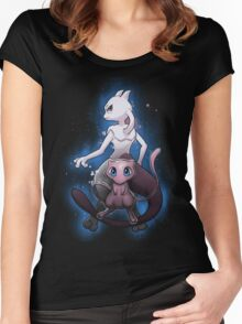 Mew - Mewtwo - Pokemon Go Women's Fitted Scoop T-Shirt
